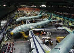 Boeing airplane factory in Snohomish Tours
