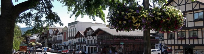 Summer in downtown Leavenworth Washington State