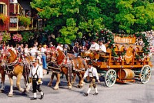 Leavenworth Bier Wagon in a parade