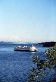 Washington State Ferry at Kitsap Peninsula