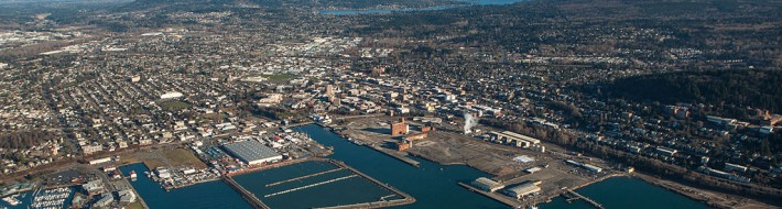 Aerial View of Bellingham Washington