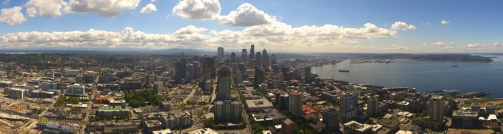 Space Needle Panoramic Seattle Webcam photo