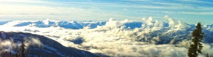 Whistler BC ski area View