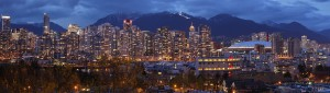 "Cropped ""Vancouver dusk pano"" by Mfield, Matthew Field, http://www.photography.mattfield.com - Own work. Licensed under CC BY-SA 3.0 via Commons - https://commons.wikimedia.org/wiki/File:Vancouver_dusk_pano.jpg#/media/File:Vancouver_dusk_pano.jpg - British Columbia"