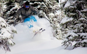 Cutting Through at Big White Ski Resort