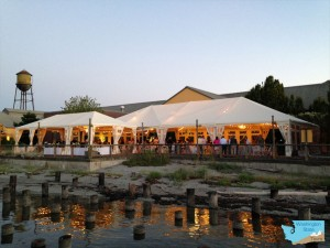 Semiahmoo Resort wedding tent c Kevin Unruh