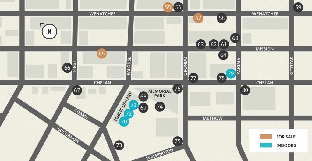 Wenatchee Art on the Avenue Map 2