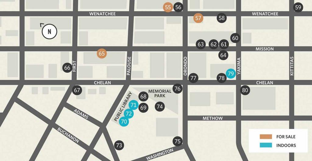 Wenatchee Art on the Avenue Map 2