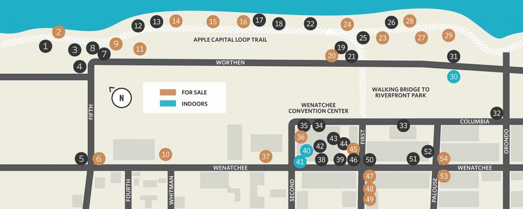 Wenatchee Art on the Avenue Map