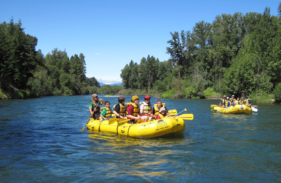 Scenic river rafting on the Cascade Loop with Alpine Adventures